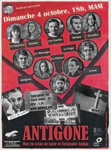 affiche Antigone octobre 2015